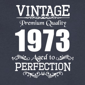 Vintage Premium Quality 1973 Aged To Perfection - Men's V-Neck T-Shirt by Canvas