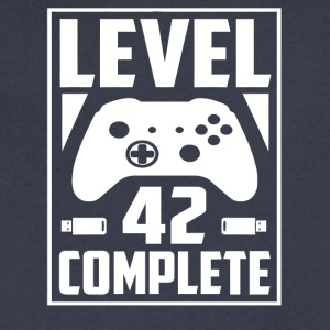 Level 42 Complete - Men's V-Neck T-Shirt by Canvas