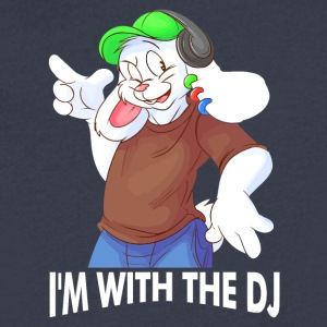 I'm With The DJ Fun - Men's V-Neck T-Shirt by Canvas