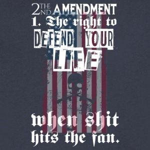 2nd Amendment The Right To Defend Your Life - Men's V-Neck T-Shirt by Canvas