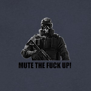 mute the fuck up - Men's V-Neck T-Shirt by Canvas