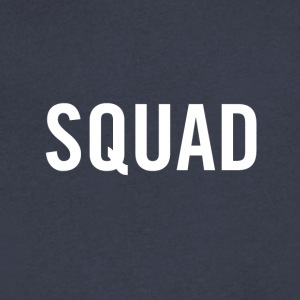 Squad White - Men's V-Neck T-Shirt by Canvas