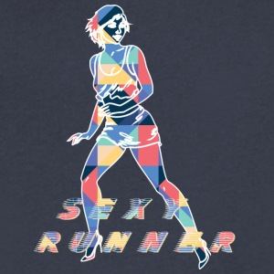 sexy_runner - Men's V-Neck T-Shirt by Canvas
