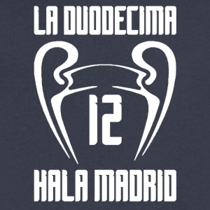 real madrid - Men's V-Neck T-Shirt by Canvas