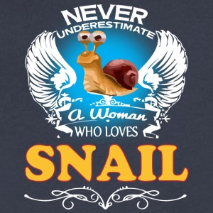 A Woman Who Love Snail - Men's V-Neck T-Shirt by Canvas