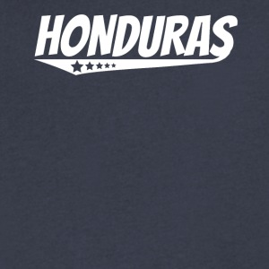 Honduras Retro Comic Book Style Logo Honduran - Men's V-Neck T-Shirt by Canvas