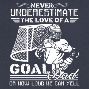 Lacrosse Goalie Dad Shirt - Men's V-Neck T-Shirt by Canvas