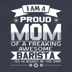 A Freaking Awesome Barista T Shirt - Men's V-Neck T-Shirt by Canvas