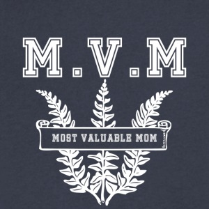 Most valuable Mom MVM - Men's V-Neck T-Shirt by Canvas