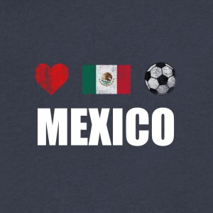 Mexico Football Mexican Soccer T-shirt - Men's V-Neck T-Shirt by Canvas