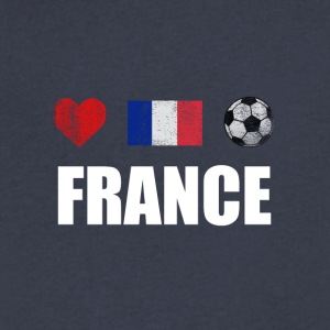 France Football French Soccer T-shirt - Men's V-Neck T-Shirt by Canvas