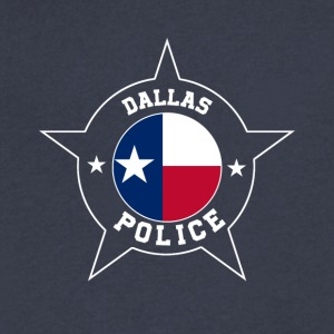 Dallas Police T Shirt - Texas flag - Men's V-Neck T-Shirt by Canvas