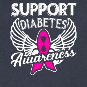 Support Diabetes Awareness Shirt - Men's V-Neck T-Shirt by Canvas
