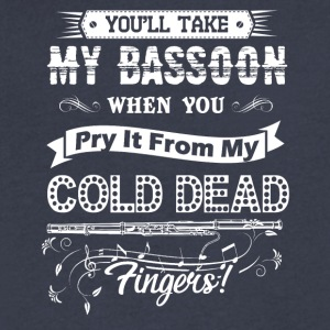 Take My Bassoon Shirt - Men's V-Neck T-Shirt by Canvas