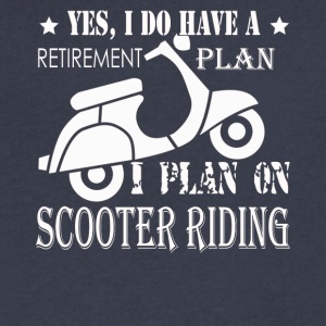 SCOOTER RIDING TEE SHIRT - Men's V-Neck T-Shirt by Canvas