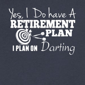 Plan On Darting Shirt - Men's V-Neck T-Shirt by Canvas