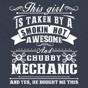 Smokin Hot Awesome Mechanic Tee Shirt - Men's V-Neck T-Shirt by Canvas