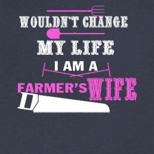 Farmer Wife Tee Shirt - Men's V-Neck T-Shirt by Canvas