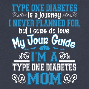 I'm A Type One Diabetes Mom T Shirt - Men's V-Neck T-Shirt by Canvas