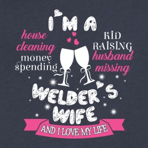 I'm A Welder's Wife T Shirt - Men's V-Neck T-Shirt by Canvas