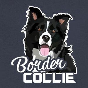 Border Collie Tee Shirt - Men's V-Neck T-Shirt by Canvas