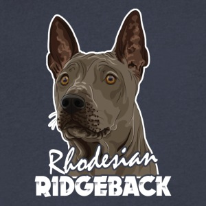 Rhodesian Ridgeback Shirt - Men's V-Neck T-Shirt by Canvas