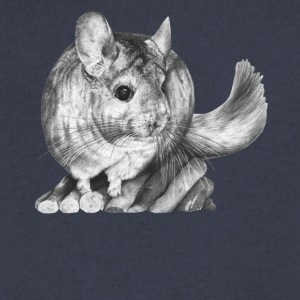 chinchilla tee & hoodie - Men's V-Neck T-Shirt by Canvas