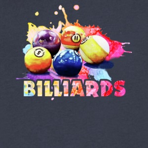 billiards tee shirt - Men's V-Neck T-Shirt by Canvas