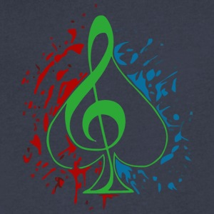 Treble clef - Men's V-Neck T-Shirt by Canvas