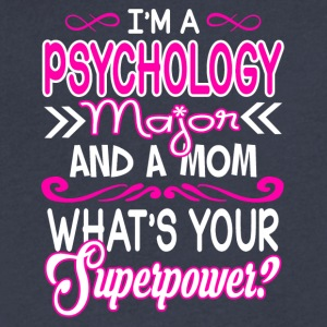 Psychology Major Mom Superpower Shirt - Men's V-Neck T-Shirt by Canvas