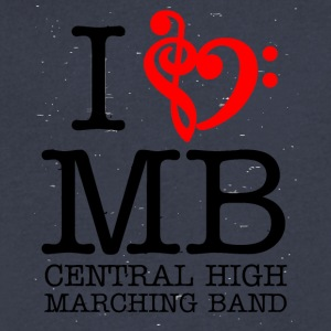 I MB Central High Marching Band - Men's V-Neck T-Shirt by Canvas