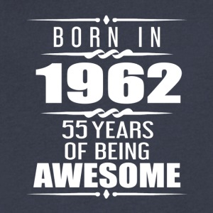 Born in 1962 55 Years of Being Awesome - Men's V-Neck T-Shirt by Canvas