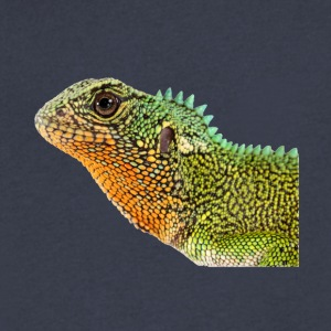 Iguana, lizard, reptile - Men's V-Neck T-Shirt by Canvas