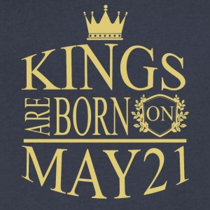Kings are born on May 21 - Men's V-Neck T-Shirt by Canvas