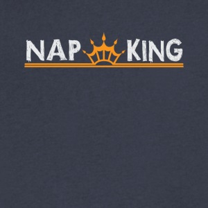 Nap King Funny Napping Tee Shirt - Men's V-Neck T-Shirt by Canvas