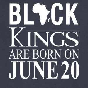 Black Kings Born on June 20 - Men's V-Neck T-Shirt by Canvas