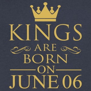 Kings are born on June 06 - Men's V-Neck T-Shirt by Canvas