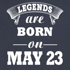 Legends are born on May 23 - Men's V-Neck T-Shirt by Canvas