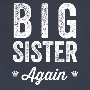 Big Sister Again - Men's V-Neck T-Shirt by Canvas