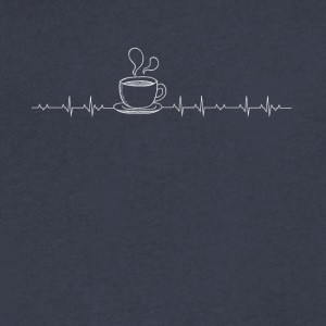 Coffee heartbeat lover - Men's V-Neck T-Shirt by Canvas
