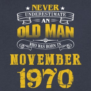 An Old Man Who Was Born In November 1970 - Men's V-Neck T-Shirt by Canvas