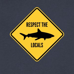 Respect The Locals - Men's V-Neck T-Shirt by Canvas
