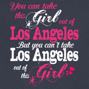This Girl Love Los Angeles - Men's V-Neck T-Shirt by Canvas