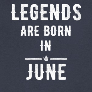 Legends are born in June - Men's V-Neck T-Shirt by Canvas