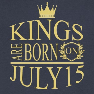 Kings are born on July 15 - Men's V-Neck T-Shirt by Canvas