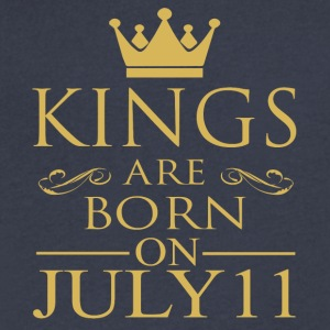 Kings are born on July 11 - Men's V-Neck T-Shirt by Canvas