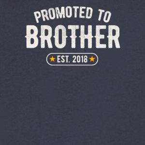 Promoted To Brother 2018 - Men's V-Neck T-Shirt by Canvas