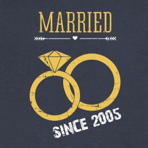 Wedding Anniversary Married since 2005 - Men's V-Neck T-Shirt by Canvas