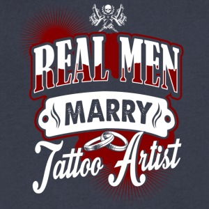 Real Men Marry Tattoo Artist - Men's V-Neck T-Shirt by Canvas