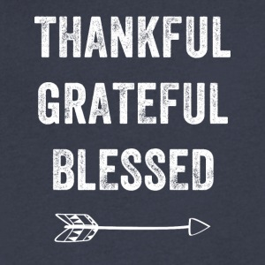 Thankful grateful blessed - Men's V-Neck T-Shirt by Canvas